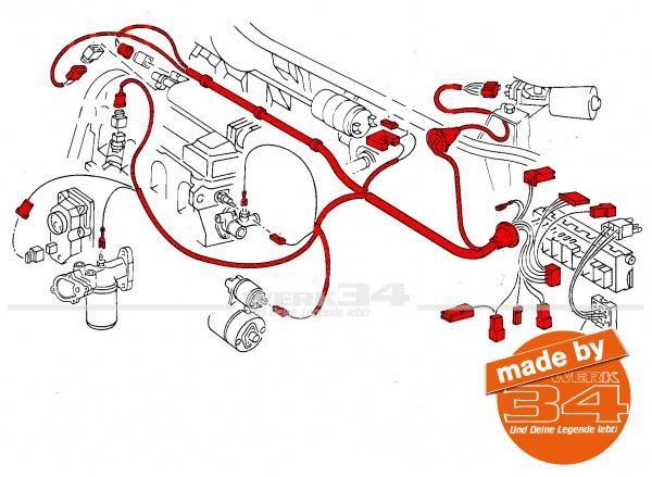 Motor-Kabelbaum, passend für Golf I 1.6 GTI Baujahr 08/78-07/79