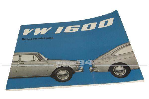 Betriebsanleitung Volkswagen 1600 Ausgabe August 1965