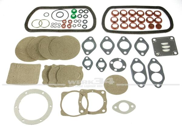 Motordichtsatz, Nachfertigung, passend für 1.3-1.6 Käfer, Bus, Karmann Ghia, etc.