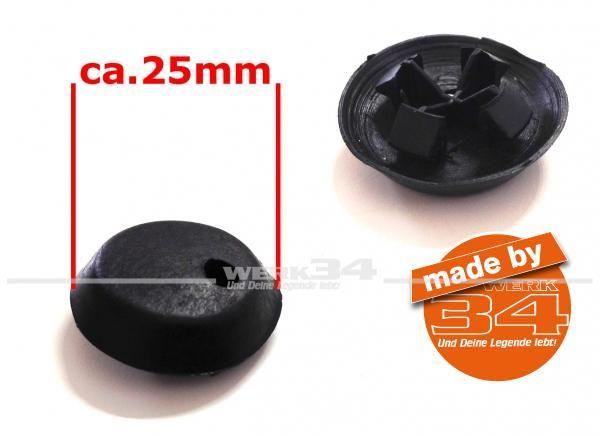 Durchführung / Abdeckung schwarz 25mm
