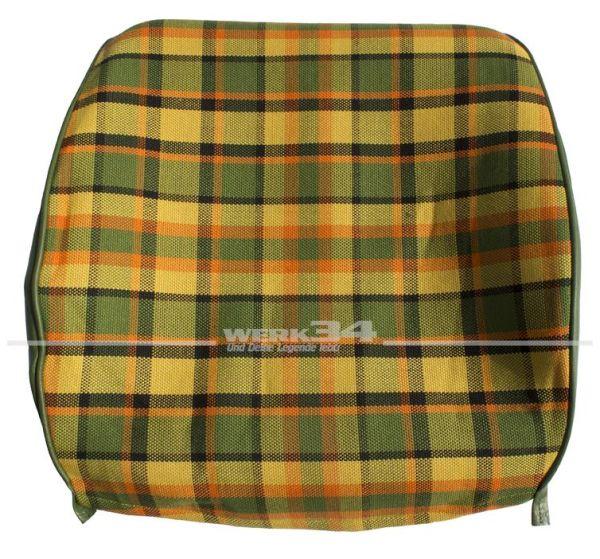 Bezug für Sitzlehne, Rückenteil offen ( z.B. Beifahrerseite ), gelb, passend für Westfalia T2B