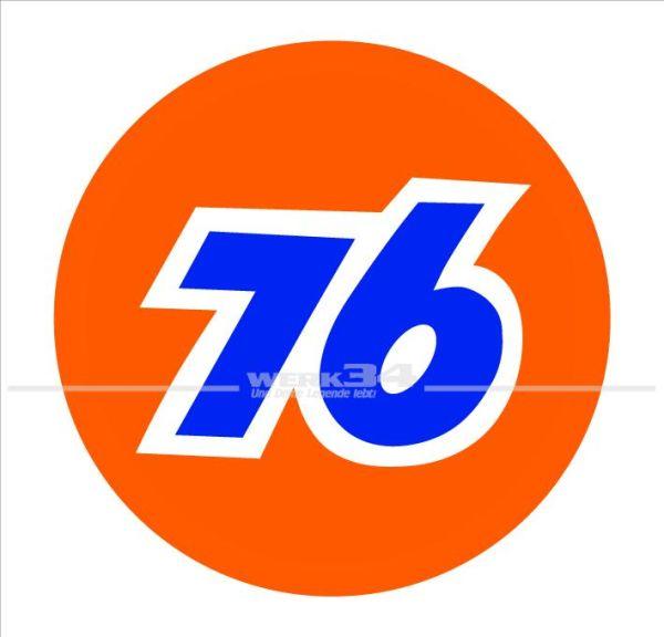 "Aufkleber ""76"", groß"