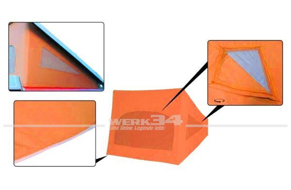 Zelt für Westfalia Hubdach / Klappdach, passend für Modelle von 08/73-07/79, orange