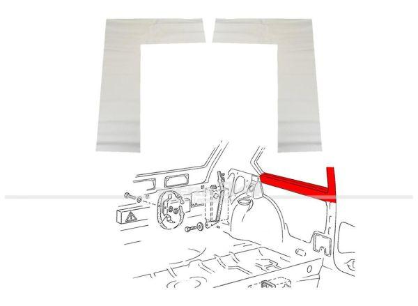 Abdeckung B-Säule/unter Seitenscheibe innen, weiß, passend für Golf I