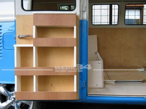 Küchenregal für Klapptür, passend für Westfalia T1 SO 42