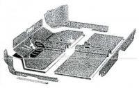 Teppichsatz Typ 3, Bj. 08/61-07/67 Velours schwarz, 7-teilig