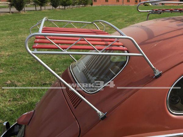 Heckgepäckträger Jim Dandy Style, silber, mit Holzauflage