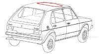 Dichtung für Stahlschiebedach Golf I, II, Corrado, Polo, etc.