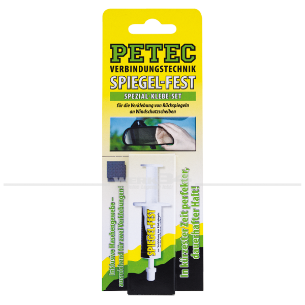 Spezial-Klebe-Set zur Verklebung des Rückspiegels an die Windschutzscheibe