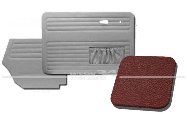 Verkleidungssatz 4-tlg. in Farbe rot, passend für alle Cabrio ab Bj.8/72