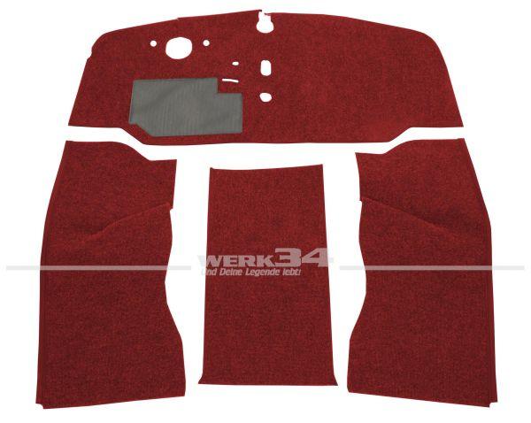 Teppichsatz Schlinge 4-tlg. rot, passend für VW Bus T2 Bj 8/67-7/72
