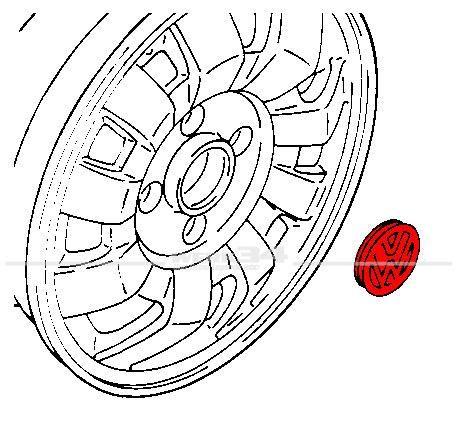 Nabendeckel 58mm passend für diverse VW-Alufelgen