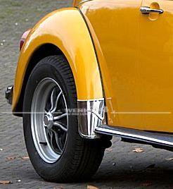 Satz Steinschlagschutzecken aus Aluminium für die Kotflügel hinten,original deutsches Zubehör