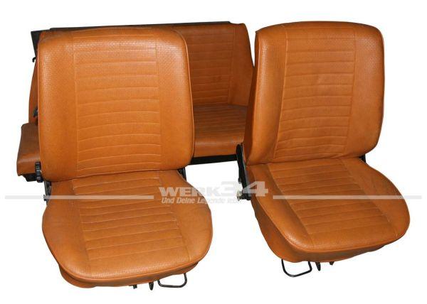 Sitzausstattung ohne Kopfstützen ab 08/72, passend für Cabrio, gebraucht