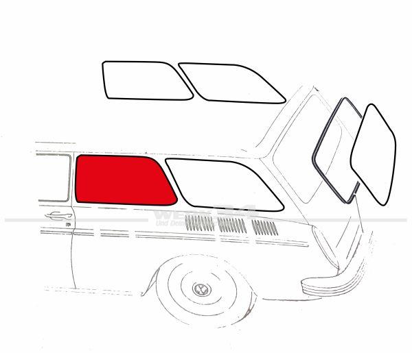 Seitenfenster Typ 3 Variant , mitte, gebraucht