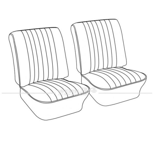 Sitzbezüge, Satz vorn, Kunstleder blau, Bj. 08/65-07/67, Einzelstück