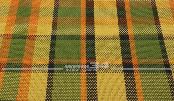 Westfalia Bezugsstoff in grün | orange | schwarz, Grundpreis: 35 EUR pro m2