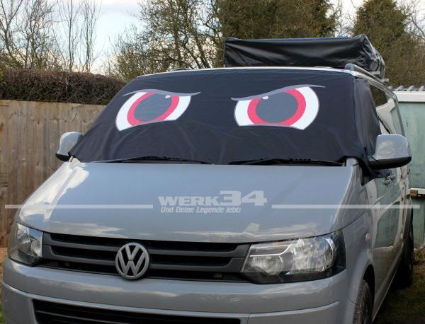 """Fahrerhaus Sonnenschutz """"Angry Eyes"""", passend für Bus T5"""