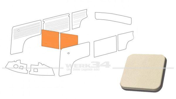Verkleidung Trennwand mit/ohne Durchgang, cremeweiß, passend für T2 Bus 08/68-07/76 Außenteil