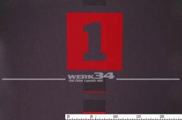 Bezugsstoff, anthrazit/rot, passend für Polo 6N2 GTI, Grundpreis EUR pro m2