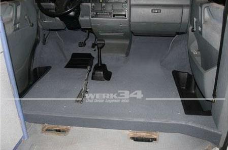 Teppichsatz Bus T4 vorn, für Fahrzeuge ohne Mitteldurchgang, grau