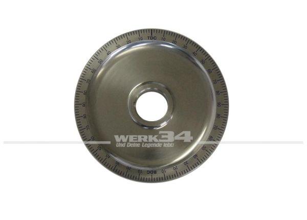 Riemenscheibe aus Aluminium mit blauer Gradeinteilung, im Durchmesser wie Serien, passend für Typ1