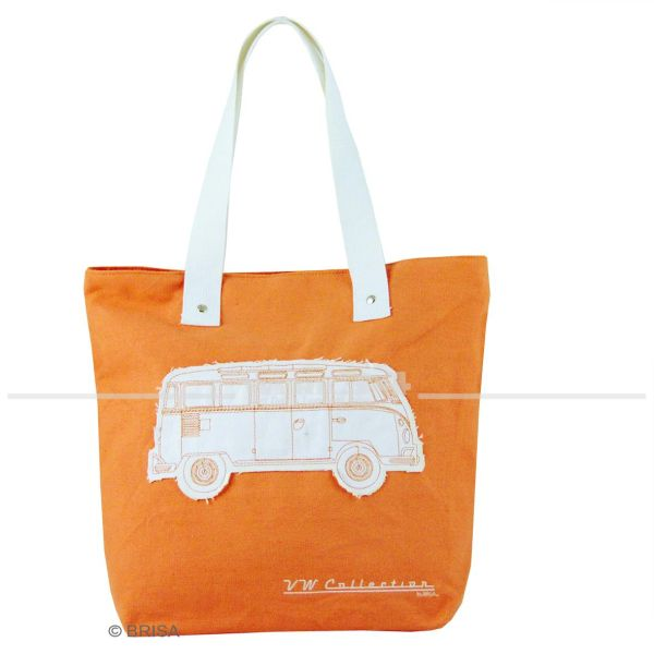 "VW Bulli Canvas Shopper Bag ""Orange"""