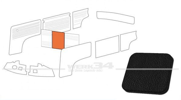 Verkleidung Trennwand ohne Durchgang, schwarz, passend für T2 Bus 08/68-07/76 Mittelteil