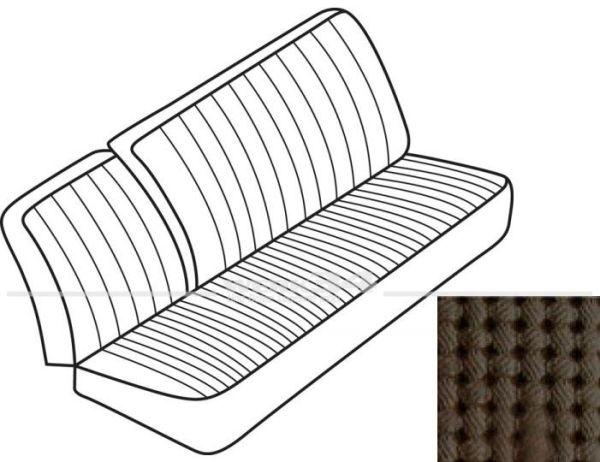 Sitzbezüge für Mittelbank 3-sitzig mit Rückenlehne, braun