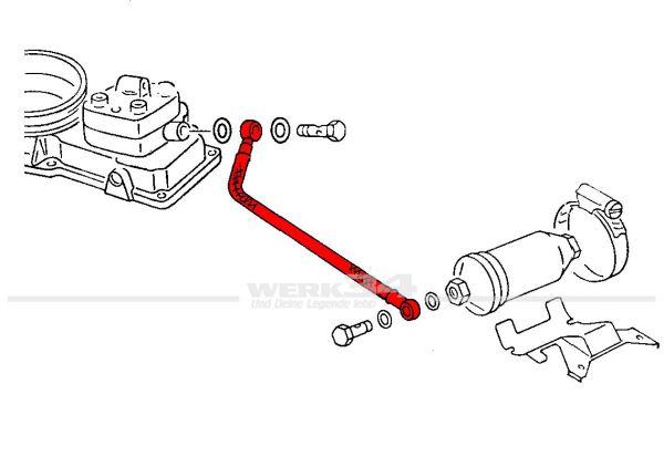 Kraftstoffleitung, passend für Golf I GTI + Cabrio , Benzinfilter zu Mengenteiler