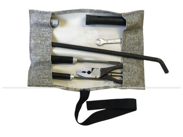 Werkzeugtasche mit Bordwerkzeug, 50er/ 60er/ 70er Jahre zeitgenössisches Zubehör