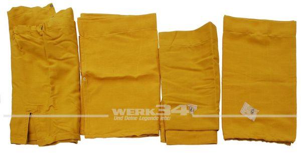 Vorhangset / Gardinen-Set, 10-teilig, gelb, passend für Westfalia T2 B