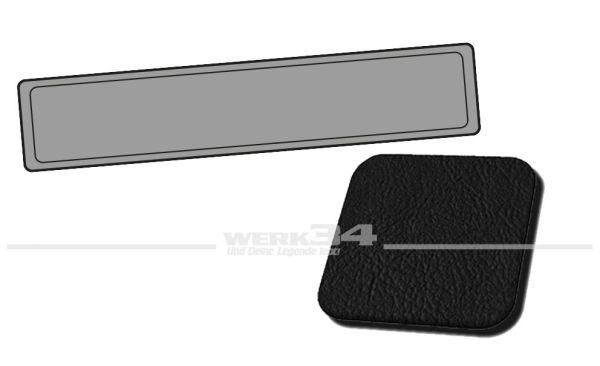 Verkleidung Heckklappe schwarz, passend für Typ 3 Variant, Bj. 1968-73