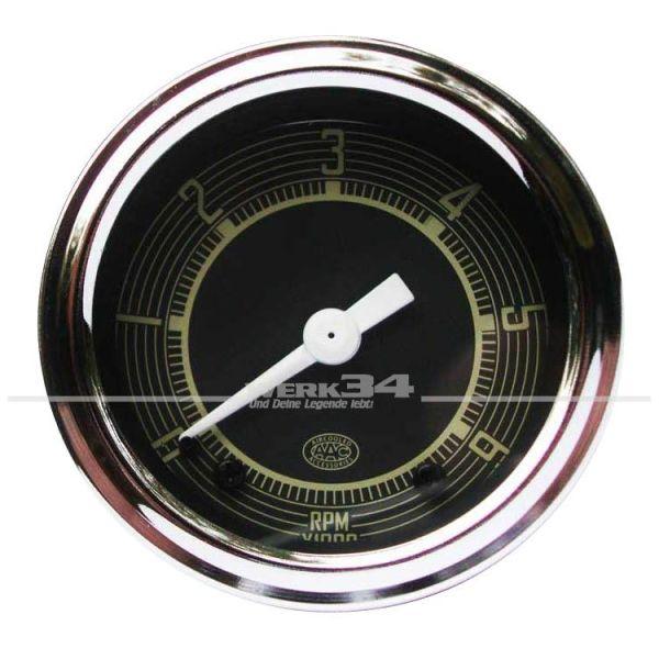 Drehzahlmesser Zusatzinstrument 52mm, chrom