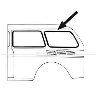 Seitenscheibendichtung mit Nut hinten passend für Typ 3 Variant