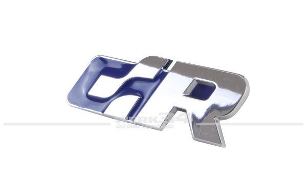 """Emblem """"R"""" chrom/blau"""