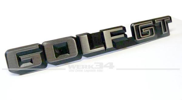 Schriftzug Golf GT
