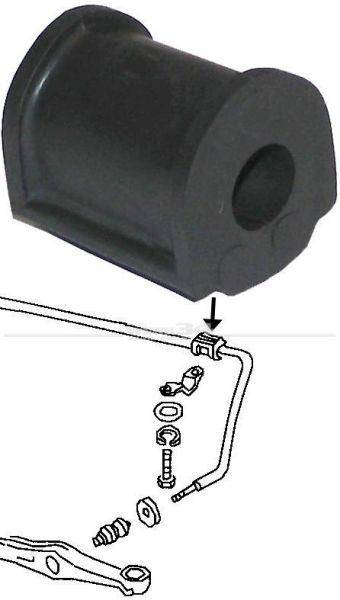 Gummi für Stabilisator 1302/1303 am Rahmenkopf