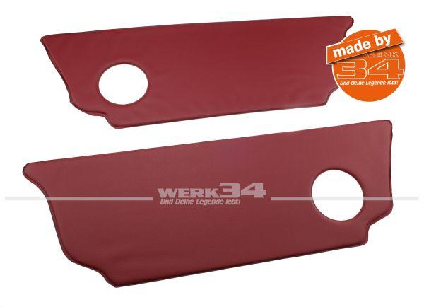 Paar Fersenbretter, rot, für Limousine passend für Modelle ab Bj 08/62 Käfer, Innenausstattung