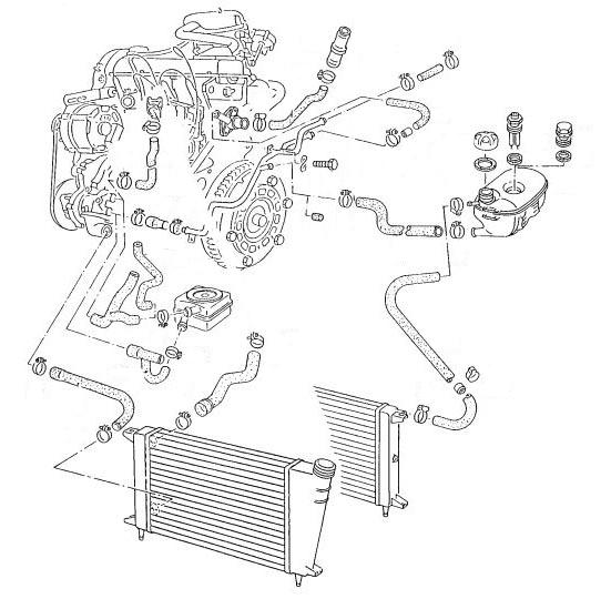 86 1.1 Kühler VW DERBY