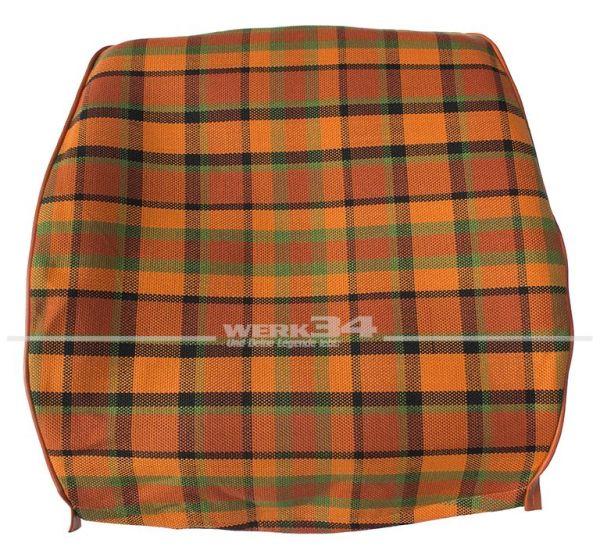 Bezug für Sitzlehne, Rückenteil geschlossen, orange, passend für Westfalia T2B
