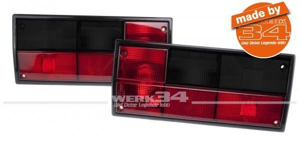 Paar Rückleuchten in rot/schwarz, passend für T3 Bus 79-92