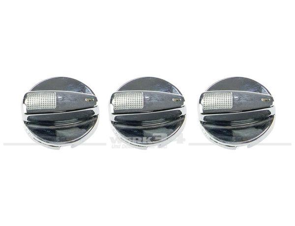 Air-Buttons, chrom, passend für Golf III