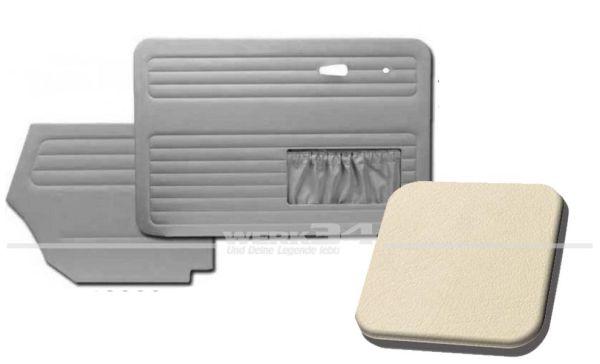 Tür- und Seitenverkleidungen mit Kartentasche, Cabrio, 55-64, creme weiß