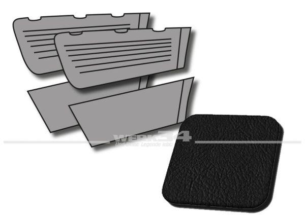 Seitenverkleidungen hinten schwarz, passend für Typ 3 Limousine, Bj. 1966-73