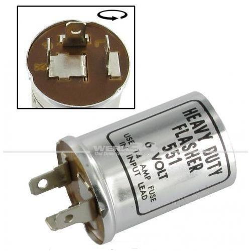 6 Volt 2 x 18 Watt Blinkerrelais passend für Modelle von 08/62-07/66 und Standard Käfer bis 07/68