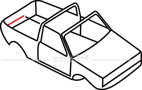 Verdeckdichtung hinten, rechts, passend für Golf I Cabrio