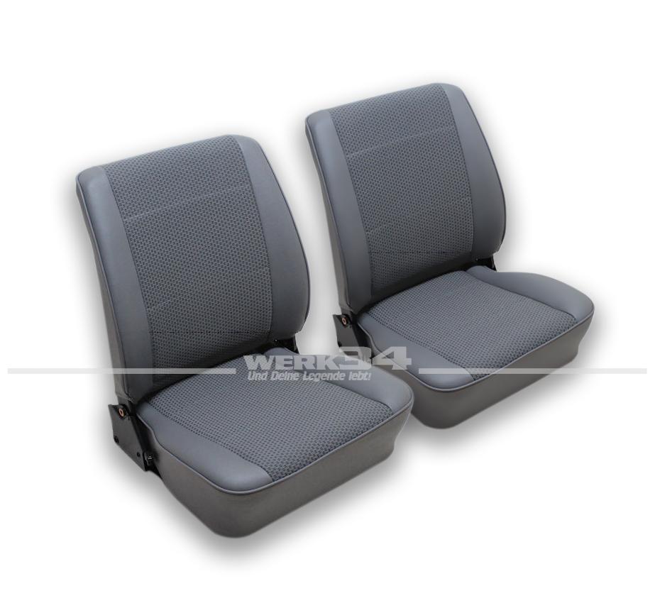 sitzbez ge grau f r beide sitze passend f r bus t3. Black Bedroom Furniture Sets. Home Design Ideas
