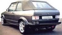 Verdeck-Bezug PVC, schwarz, passend für Golf I Cabrio