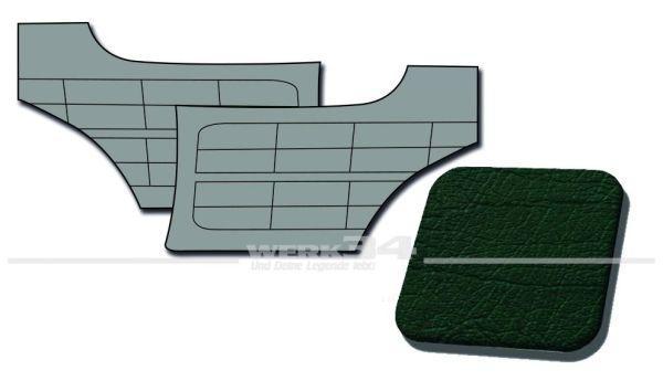 Seitenverkleidungen hinten dunkelgrün, passend für Karmann Ghia Typ 14, Bj. 1958-63